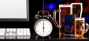 Bierpartei nach Arbeitstag Stockfoto