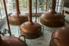 Bierproductie stock afbeeldingen