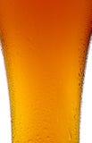 Bierschale mit Wassertröpfchennahaufnahme auf Weiß Stockbild