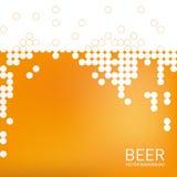 Bierschaumhintergrund, stilisierte Blase Vektor Lizenzfreie Stockfotografie