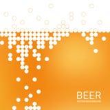 Bierschaumhintergrund, stilisierte Blase Vektor Lizenzfreie Stockbilder
