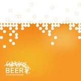 Bierschaumhintergrund, stilisierte Blase Vektor Lizenzfreies Stockfoto