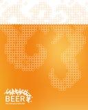 Bierschaumhintergrund, stilisierte Blase Vektor Lizenzfreies Stockbild