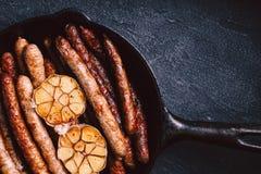 Biersnack, meest oktoberfest eigengemaakte geroosterde worsten royalty-vrije stock afbeelding