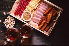Biersnacks barvoedsel, bar, meest oktoberfest voorgerechten royalty-vrije stock foto