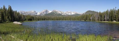 Bierstadt See Rocky Mountain National Park Panorama Lizenzfreies Stockbild
