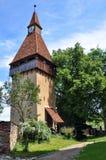 Biertan中世纪教会塔  免版税库存照片