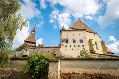 Biertan在罗马尼亚加强了教会城堡 免版税库存照片