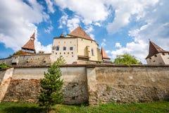 Biertan在罗马尼亚加强了教会城堡 免版税库存图片