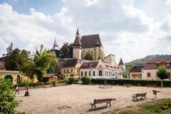 Biertan在罗马尼亚加强了教会城堡 免版税图库摄影