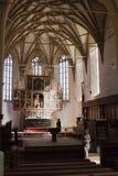 Biertan在罗马尼亚加强了教会 免版税图库摄影