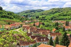 Biertan村庄在特兰西瓦尼亚 库存图片