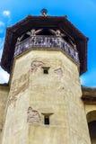 Biertan,特兰西瓦尼亚,罗马尼亚被加强的教会  免版税库存照片