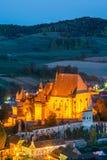 Biertan,特兰西瓦尼亚,罗马尼亚-被加强的教会 库存图片