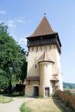 Biertan укрепило башню церков в Трансильвании стоковая фотография rf