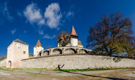 Biertan укрепило церковь, Трансильванию Стоковые Фотографии RF