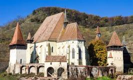 Biertan укрепило церковь, Трансильванию Стоковое Изображение RF