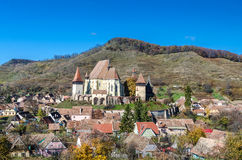 Biertan укрепило церковь, Трансильванию Стоковая Фотография RF