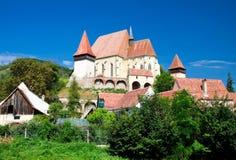 Biertan的筑堡垒于的教会,罗马尼亚 免版税库存照片