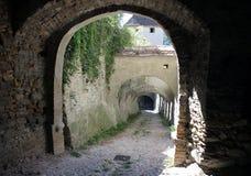 Biertan alley. Back alley in the fortified church of Biertan Stock Image