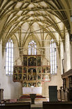 Biertan church interior Royalty Free Stock Photos