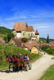 Biertan a enrichi l'église, Roumanie Images stock