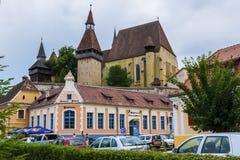 Biertan fortificó la iglesia Imagen de archivo