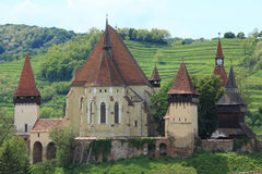 Biertan fortificou a igreja Imagens de Stock