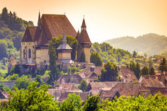 Biertan Fortified church, Romania. Biertan, one of the most important Saxon villages with fortified church in Transylvania, Romania stock image