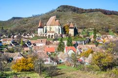 Biertan fortified church, Transylvania stock photography
