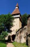 Biertan fortress tower in Transylvania Stock Photography