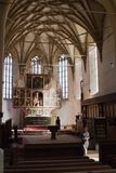 Biertan fortyfikował kościół w Rumunia Fotografia Royalty Free