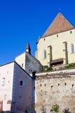 Biertan kyrka Arkivfoto