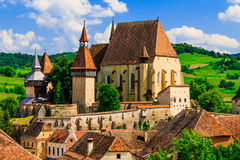 Biertan, Sibiu, Romania. Saxon village with the fortified church in Transylvania royalty free stock images