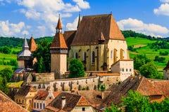 Biertan Sibiu, Rumänien royaltyfria bilder