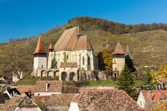 Biertan, Transylvania. View of the fortified church in Biertan, Romania Royalty Free Stock Images