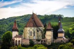 Biertan, Versterkte kerk, Transsylvanië, Roemenië Royalty-vrije Stock Foto