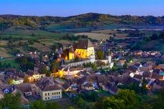 Biertan versterkte kerk in Transsylvanië, Sibiu, Roemenië royalty-vrije stock afbeeldingen