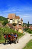 Biertan-Wehrkirche, Rumänien stockbilder
