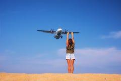 Bierze fotografię z samolotem Fotografia Stock