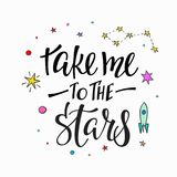 Bierze ja gwiazdy wycena typografii literowanie Obraz Royalty Free