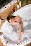 bierze kobiety kąpielowy bąbel Obraz Royalty Free