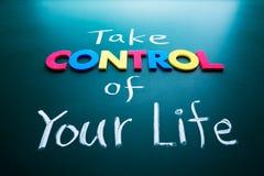 Bierze kontrola twój życia pojęcie Fotografia Royalty Free