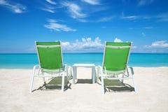 Bierze przerwę na raju plaży Obrazy Royalty Free