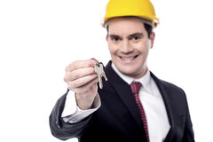 Bierze twój nowego domu klucz Fotografia Stock