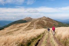 Bieszczady山在东南波兰 免版税库存照片