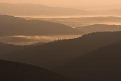 Bieszczady - βουνά στιλβωτικής ουσίας στοκ φωτογραφίες με δικαίωμα ελεύθερης χρήσης