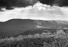 Bieszczady - βουνά στιλβωτικής ουσίας στοκ εικόνες με δικαίωμα ελεύθερης χρήσης