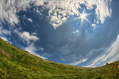 Bieszczady berg Arkivbilder