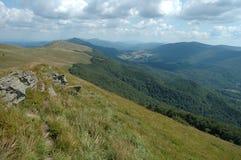 Bieszczady berg Arkivbild